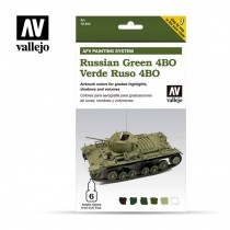 Set 6 colores Model Air de 8 ml - AFV Russian Green 4BO