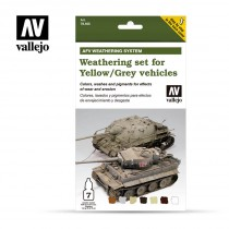Weathering for Yellow and Grey vehicles
