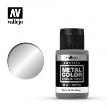Metal color Plata 32 ml.