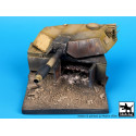 DESTROYED M1A1 ABRAMS BASE 1/35 9x9 ctms.