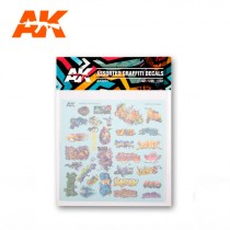 ASSORTED GRAFFITI DECALS SET 2