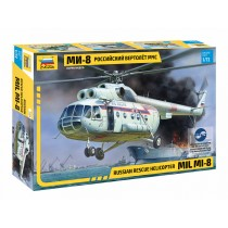 Russian rescue helicopter MIL MI-8 1/72
