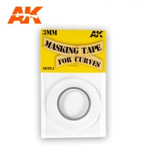 MASKING TAPE FOR CURVES 3 MM. 18 METERS LONG