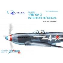 Yak-3 3D-Print&colour Interior (ZVE)