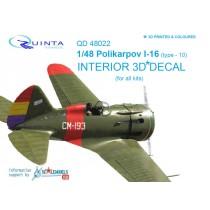 I-16 type 10 3D-Print&colour Interior