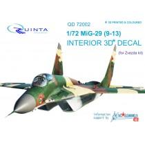 MiG-29 9-13 3D-Print&colour Interior (ZVE) 1/72