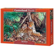 Jaguars in the jungle,Puzzle 3000 PZAS.