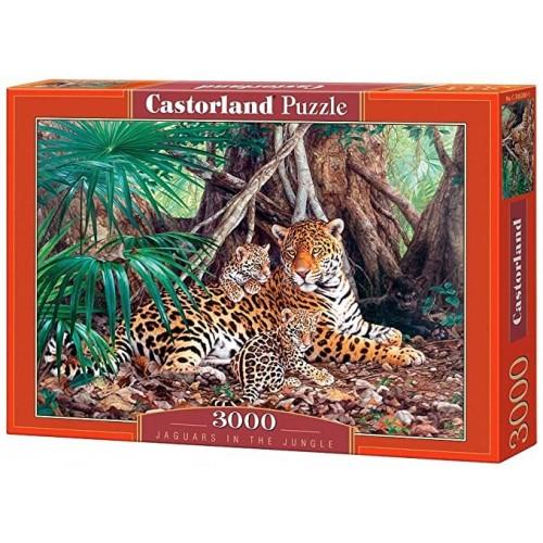 Jaguars in the jungle,Puzzle 3000 PZAS.