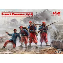 French Zouaves (1914) (4 figures) (WWI) 1/35