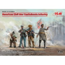 American Civil War Confederate Infantry (100% new molds) 1/35