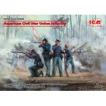 American Civil War Union Infantry (100% new molds) 1/35