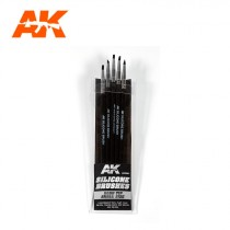SILICONE BRUSHES HARD TIP SMALL (5 SILICONE PENCILS)