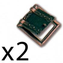 TRONERAS METAL 10X11 MM, (2)