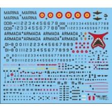 CALCAS OCTAVA ESCUADRILLA HARRIER AV-8S/TAV-8S MATADOR 1/32