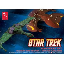 STAR TREK ADVERSARY SET KLINGON BIRD OF PREY FERENGI MARAUDER