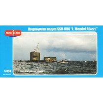 """SSN-686 """"Mendel Rivers"""" U.S. nuclear-powered submarine 1/350"""