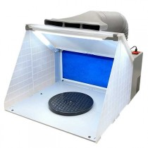 PORTABLE SPRAY BOOTH WITH LED-LIGHT
