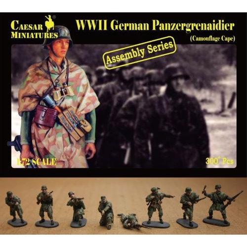 German Panzergrenadier wearing Camouflage Capes (WWII) 1/72