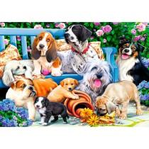 Puzzle Trefl Perros en el Jardín de 1000 Piezas