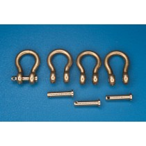 Shackles (4 pcs),Used in different military vehicles 12,2X7,6 MM.1/35