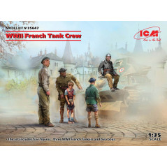 WWII French Tank Crew (4 figures) 1/35