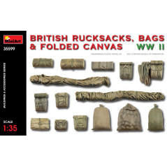 BRITISH RUCKSACKS, BAGS & FOLDED CANVAS WWII 1/35