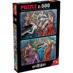 Puzzle Anatolian Notas Llenas de Color 2 x 500 Piezas