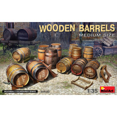 WOODEN BARRELS. MEDIUM SIZE 1/35