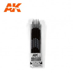 SILICONE BRUSHES MEDIUM TIP MEDIUM (5 SILICONE PENCILS)