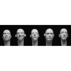 5 more Caucasian heads, formed eyes 1/35