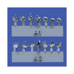 Assorted hands set No.1 1/35