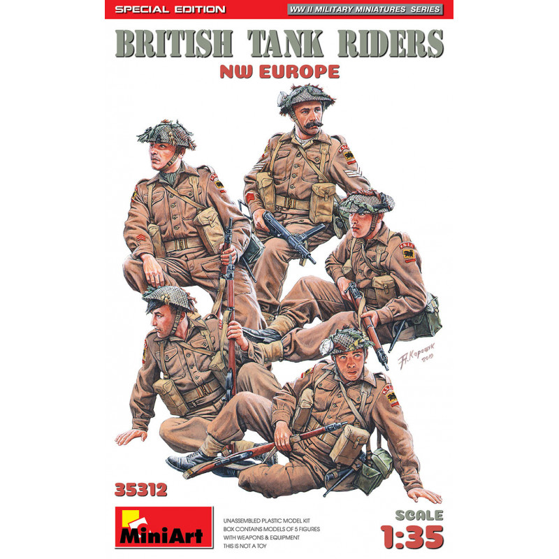 BRITISH TANK RIDERS. NW EUROPE. SPECIAL EDITION