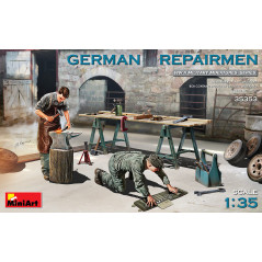 GERMAN REPAIRMEN with workbench and assorted tools