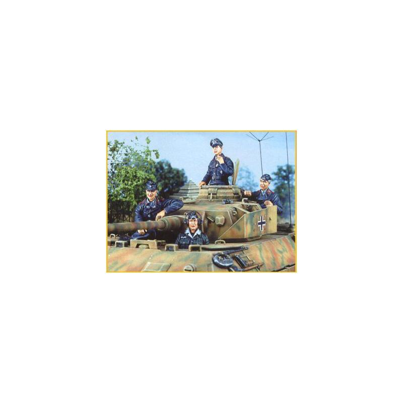 Equipage de tankiste allemand - Juin 1944 (4 fig)