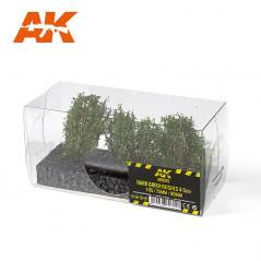 DARK GREEN BUSHES 4-5CM 1:35 / 75MM / 90MM