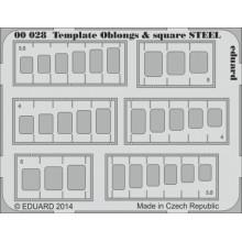 Template oblongs  square STEEL