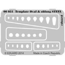 Template ovals  oblong STEEL