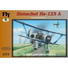 Henschel Hs 123A. Decals Spain and China 1/72