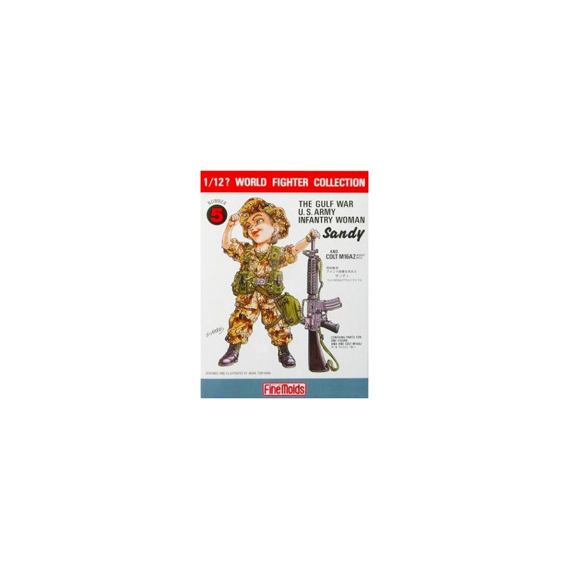 THE GULF WAR US ARMY,INFANTRY WOMAN 1/12