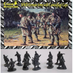 German (WWII) Army with Camouflage Cape 1/72