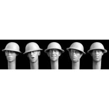 HEADS BRITISH WWI STEEL HELMET 1/35