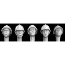 HEADS FRENCH WWI HELMET-1/35
