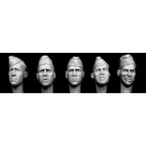 HEADS WEARING GERMAN SIDECAPS