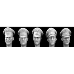 German officer wearing Schirmutze cap
