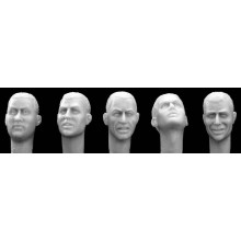Different bare heads European features 1/35