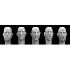 Different European Heads w/open mouths