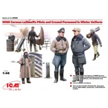 WWII German Luftwaffe Pilots and Ground Personnel in Winter Uniform (5 figures) 1/48