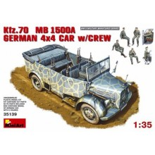 Kfz.70 (MB 1500A) German 4x4 Car with Crew 1/35