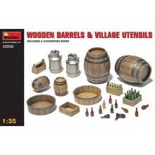 Wooden Barrels  Village Utensils 1/35