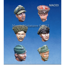 HEADS SET 1 WW2 GERMAN OFFICERS HEADS 1/35
